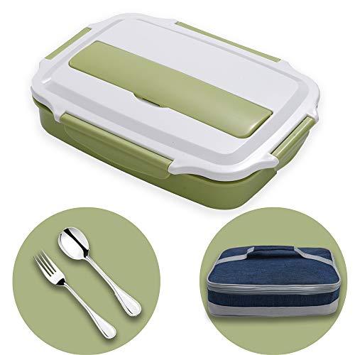 HUAFA Lunchbox, Praktische Bento Box für den Transport von Mahlzeiten, Design Brotdose für die Schule und Arbeit, Brotdose für Kinder & Erwachsene (Grün)