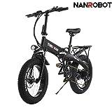 XXCY Falte elektrische Fahrräder 500W Ebikes für Erwachsene 20 Zoll-fetter Reifen faltbares elektrisches Fahrrad mit Drossel 48V 10.4Ah Lithium-Batterie-Pedal-Vorsatz passend für Gebirgsstrand-Schnee