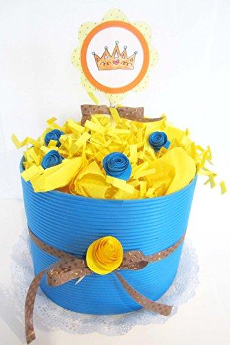 Torta di Pannolini DODOT | Modello IRIS| Personalizzabile con il Nome del Bebé | Diaper Cake | Baby Shower Gift Idea | Tono Neutro, UNISEX (per Femminucce e Maschietti)