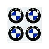 EdwardSmithCars Ersatz für 55mm Radkappen Emblem Nabendeckel Aufkleber für BMW