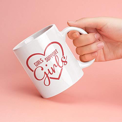 Power Cream Wash (Lplpol Feminist Mug Girls Support Girls Mug, Red Heart Girl Power Coffee Mug, Feminist Gifts, 11 Ounce Coffee Mug Tea Cup)