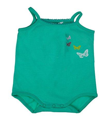 Kanz Baby - Mädchen Body o. Arm, Einfarbig, Gr. 80, Grün (biscay green|green 5236)