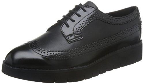 Geox D Blenda C, Zapatos Cordones Brogue Mujer, Negro