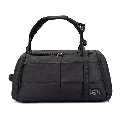 Valleycomfy Sport Bag Gym Sacs grande capacité avec des chaussures de poche main / épaule / Cross-Body Bag Fitness bagages bagages Mot de passe Anti-vol (Noir amélioré)