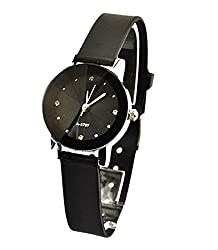 JW Designer Rhinestone Fancy Dial BLK pufaux Leather strap women ladies girls feminio Casual Leaisure Party Dress Smart Wrist Watch + with extra cell