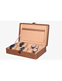 Hardcraft® Watch Box Case PU Leather Brownish Mat For 10 Watch Slots