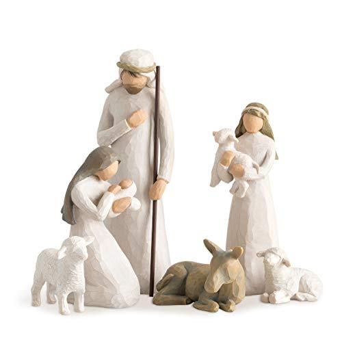 Willow Tree 26005 Figur Weihnachtsartikel Heilige Familie, Holz, Natur, 5,1 x 7,6 x 24,1 cm