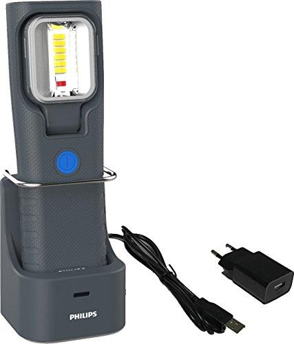 PHILIPS LPL47X1 LED-Arbeitsleuchte RCH21S mit Ladestation, Dunkelgrau (Automotive Innenbeleuchtung)