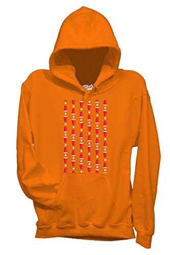 Felpa BEER PONG BIRRA - GAMES by MUSH Dress Your Style Arancione