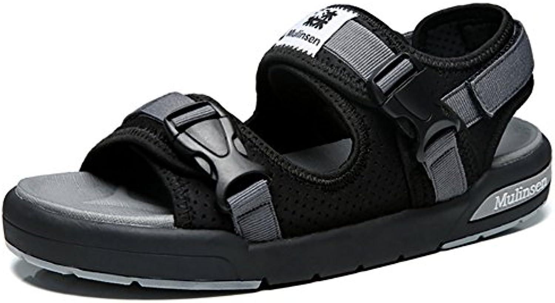 ZJM-sandalia Sandalia ajustable zapatos de playa Man Summer Slipper cinta mágica al aire libre (38-44 tamaño)