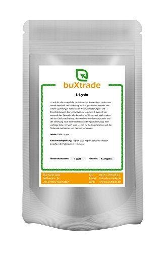 10 x 500 g pur L-Lysin Poudre - acide aminé Lysine HCL Lysine 100% pure Amino Fitness 5 kg