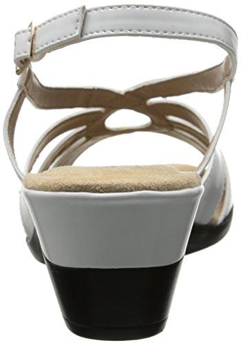 Soft Style by Hush Puppies Women's Paci Dress Sandal, White Patent Polyurethane, 10 M US White Patent Polyurethane