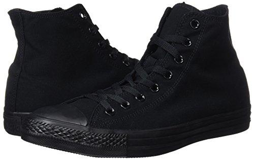 Converse All Star Hi Canvas Sneaker Unisex Adulto Nero Black Mono 40