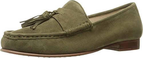Sam Edelman Womens Therese Slip-On Loafer Moss Green Kid Suede Leather