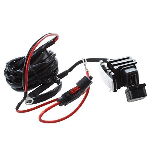 TOOGOO(R) Motorrad Fahrrad USB Stromversorgung Port Einfassung Ladegeraet fuer Handy 12V/ 24V