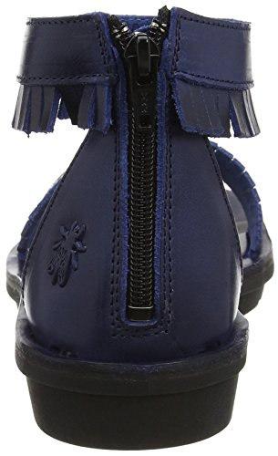 FLY London Mexu914, Sandales Plateforme Femme Bleu (Blue 008)