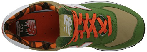 New Balance  ML574FTC, Herren Gymnastikschuhe Green/Orange