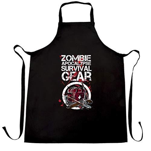 Halloween Schürze des Chefs Zombie Apocolypse Überlebensausrüstung Black One Size