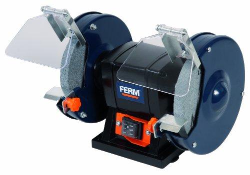 Preisvergleich Produktbild FERM BGM1019 Doppelschleifmaschine 150W - 150mm - Incl. P36 und P60 Schleifsteinen, Schutzbrille und Funkenfänger