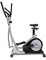 Welcare Elliptical Cross Trainer WC6010 with seat, Hand Pulse Sensor, LCD Monitor, Adjustable Resistance for Home Use