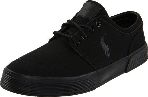 Polo Ralph Lauren Uomo Faxon Low Sneaker, Nero/Nero/Nero, 10 D US