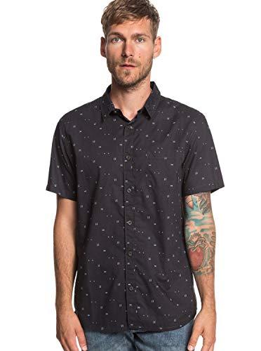 Quiksilver - Camisa Manga Corta - Hombre - L - Negro