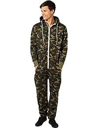 Newfacelook Stylish Mens Printed Onesie Hoody All In One Zip Hoodie Men Jumpsuit