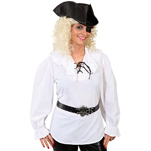Imagen de pirata blusa mujer camisa pirata blanco piratas blusa piratin camisa pirata para mujer blusa mar ladrones para mujer camisa carnaval disfraces mujeres