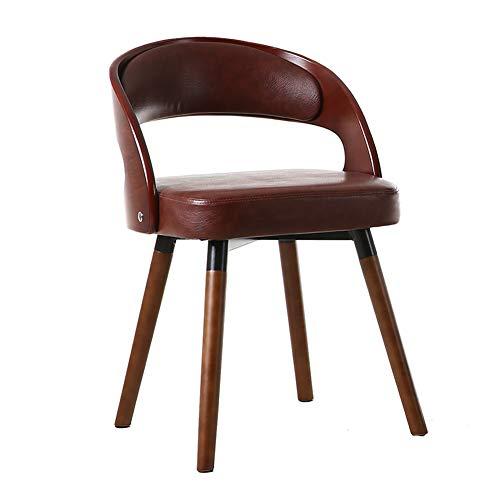 MMZZ Chaise de Salle à Manger pivotante à 360 ° en Bois Massif, Chaise de Bureau de réception, Design Ergonomique, pour Restaurant/Bar/café/Bureau/Chambre