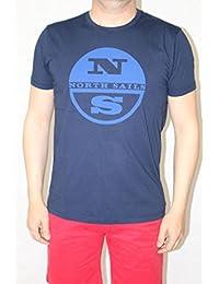North Sails-Camiseta para hombre azul cielo azul Talla:S