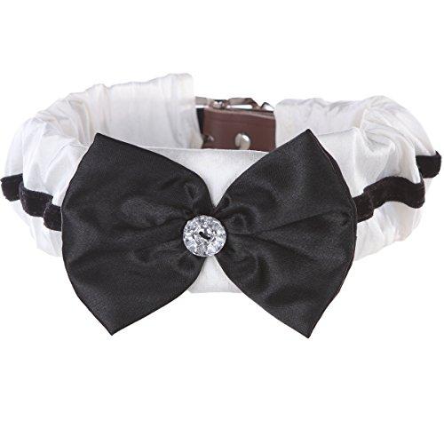 Schwanz Trends Kleine Hundehalsband Abdeckung für Mittelgroße bis Große Hunde-Mehrere Designs erhältlich, Medium, Bow Tie