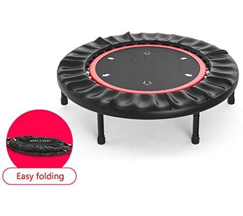 LKFSNGB 40-Zoll-Indoor-Outdoor-Trampolin Faltbares Fitness-Trampolin für Erwachsene 360   ° -Sicherheitsschild und Federsystem - 150 kg belastbar