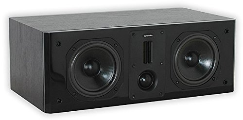 Dynavoice Definition DC-5 Black - Diffusore Acustico Centrale a 2 Vie Bass Reflex per Hi-Fi e Home Cinema. Cabinet in legno MDF con frontale laccato lucido. Tweeter doppio a nastro + cupola e Woofer in Kevlar. Sistema X-Change per regolazione db