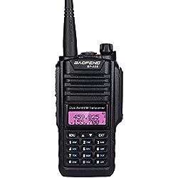BGNing BaoFeng A58 Talkie-walkie imperméable à l'eau Double Bande 5W transmettre Puissance UV Radio bidirectionnel Jambon