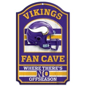 Minnesota Vikings Wood Sign - 11 inchesx17 inches Fan Cave Design