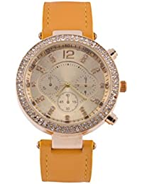 KMS Ring Diamond Women's Mango Analog Watches
