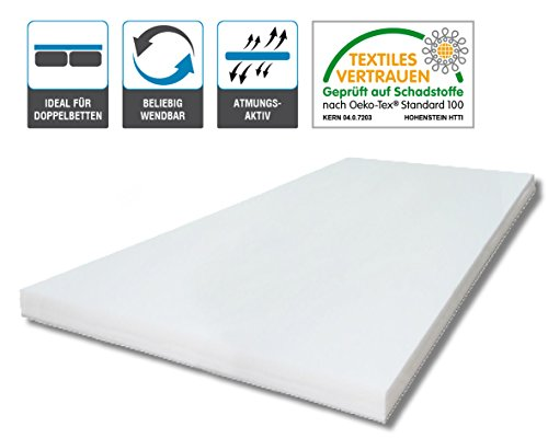 ARBD Kaltschaumkern für Topper - 5cm - XL 8cm - Wave XL 8cm - Rave XXL 10cm - Duo XXL 10cm (H3 XL - 8cm, 160x200)