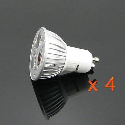 Pms 4 X 3w High Power Gu10 Led Lampe Spot Leuchtmittel Licht Warmweiss Warmwei 300 Lumen