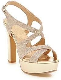 es Dorado Zapatos Para Chanclas Y Amazon Mujer Sandalias zO5dgqww