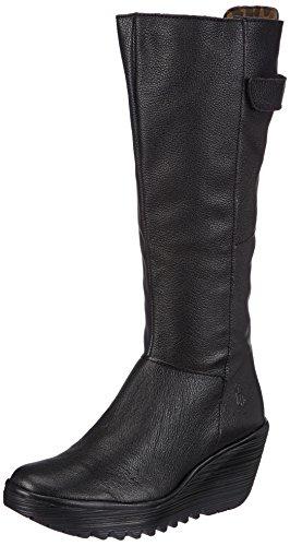 Fly London Yoa, Boots Noir - Schwarz (Black 004)