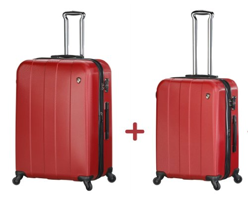 ... 50 Euro Rabatt ... PREMIUM DESIGNER Hartschalen Kofferset 2 tlg. - Heys Crown Elite V Rot - Trolley mit 4 Rollen Medium + Trolley mit 4 Rollen Gross Rot