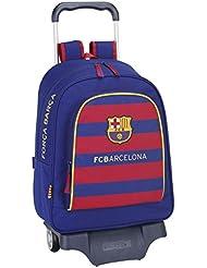 Safta FC Barcelona Mochila Grande con Ruedas, 33 x 43 x 15 cm, Color Azul Marino