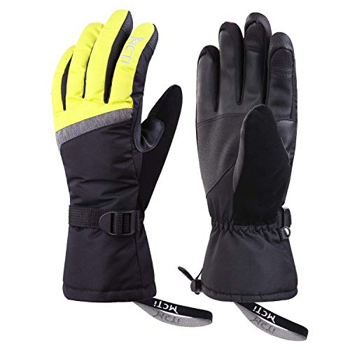 Kineed Guantes Esquí Invierno Mujer Impermeable Pantalla