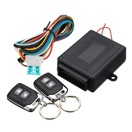 Casavidas Universal Car Central Door Lock Locking Entry System ohne Schlüssel w / 2 Fernbedienung