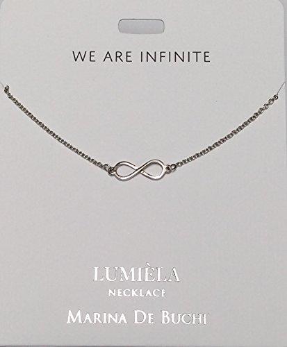 Infinity Lumeila Halskette Marina de Buchi Silber Farbe von Sterling Effectz Infinity Marine