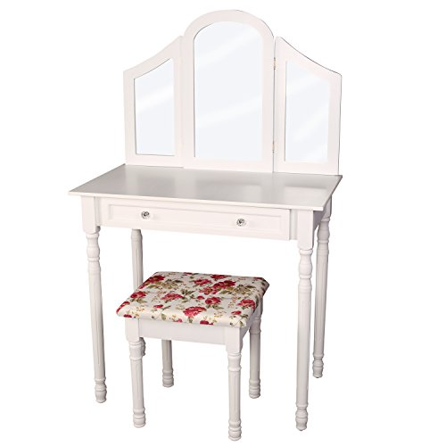 treskor-coiffeuse-table-de-maquillage-commode-de-coiffeur-avec-tabouret-1-miroir-de-maquillage-et-2-