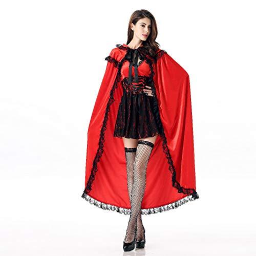 SUMTTER Halloween Cosplay kostüm Damen Korsagekleid Steampunk Gothic Kostüm Rotkäppchen Dienstmädchen Hexe Cosplay - Pin Up Halloween Kostüm