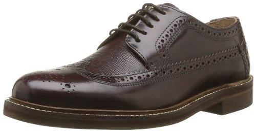 Hudson Callaghan Herren Brogue Schuhe Rot (Bordeaux)
