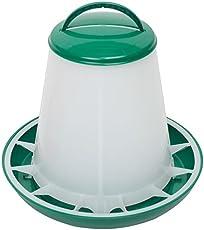 Geflügel-Futterautomat 1kg Hühnertrog, Futtertrog, Küken-Futtertrog, Wachtel-Futtertrog mit Deckel und Aufhängung