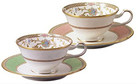 Noritake bone china tea and coffee Yoshino bowl dish pair